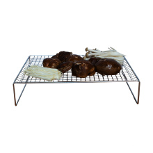 Manufacturers selling stainless steel 3-layer folding microwave oven outdoor safe food baking cooling rack