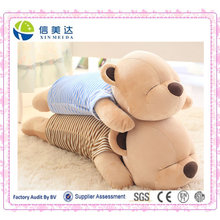 Soft Sleeping Bear Pillow /Exquisite Plush Bear Pillow Toy