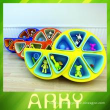 Hochwertige Kinder-Plastikspielzeug-Regal für Kindergarten