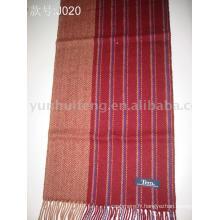écharpe jacquard en cachemire tricotée