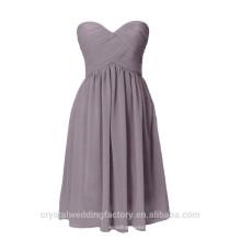 Venta al por mayor baratos corto dama de honor vestidos 2016 gasa vestido de noche con plisados mujeres vestidos de baile LBB08