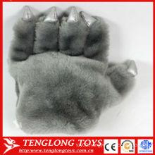 2013 hot sale animal paw plush bear paw gloves