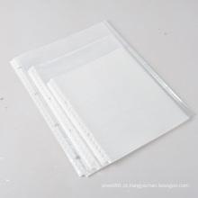 Protetores de folha de saco de envelope com zíper A4