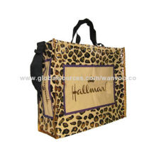 Eco-friendly Promotional Foldable Shopping Bag with Carrying Handles, Customized Sizes are Accepted