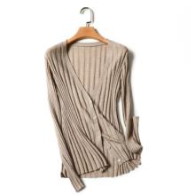 2017 neue 100% kaschmir pullover pullover mantel weibliche Dünne dünne abschnitt von reiner farbe V-ausschnitt pullover kurzen abschnitt
