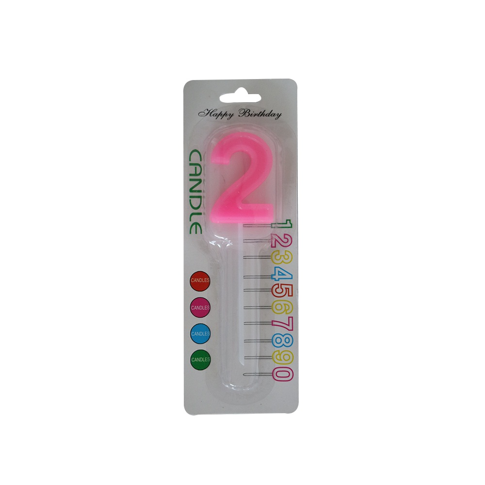 Plastic Holder Number Candle