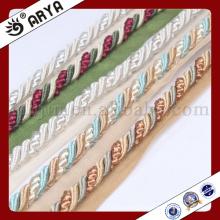 Corda delicada e decorativa para decoração de sofá ou acessório para decoração de casa, cordão decorativo, 6mm