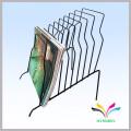 wall display commercial floor metal wire magazine rack