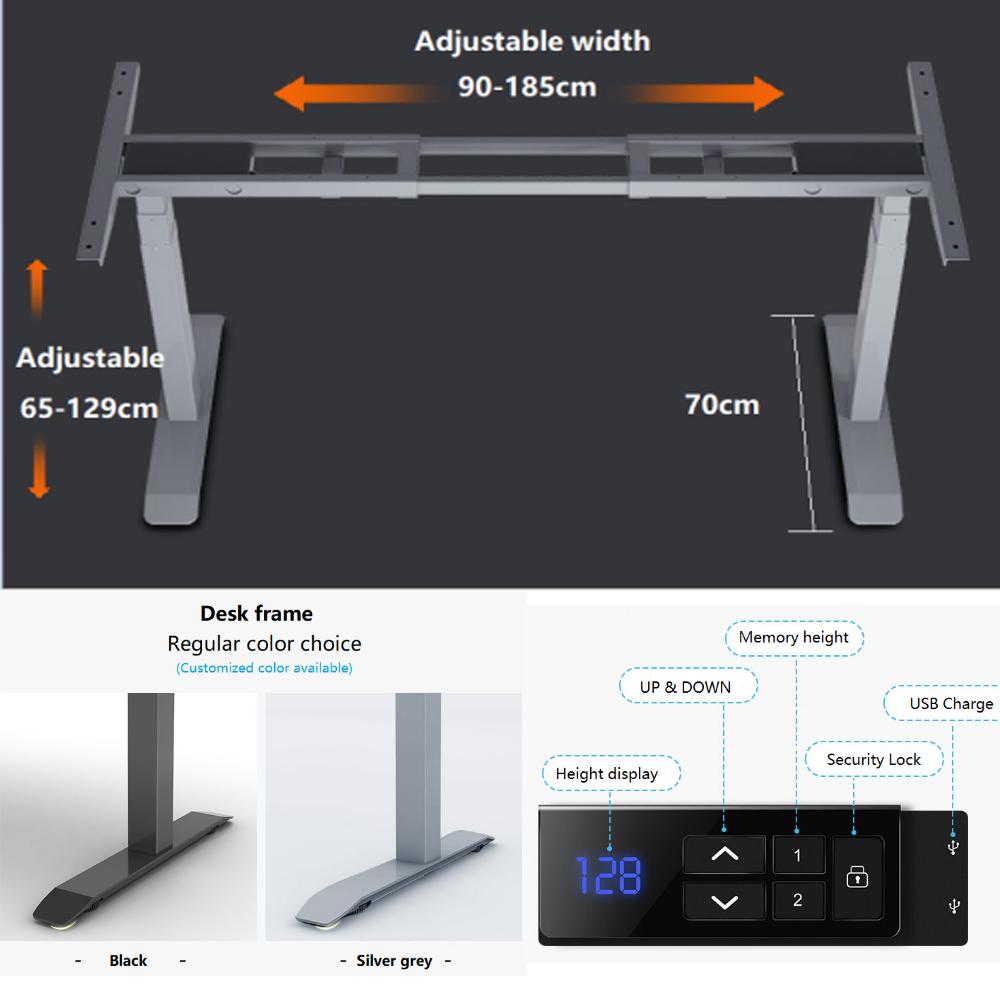 Dual Motor Lift Desk Frame