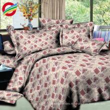 moderne 100% coton imprimé 3d drap de lit pour le tissu