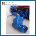 Socket end water resilient seated stem gate valve for PVC pipe