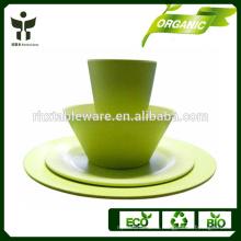 Выдвиженческая комплект столовой посуды bamboo волокна 4pieces оптовая комплект wedding weddingware