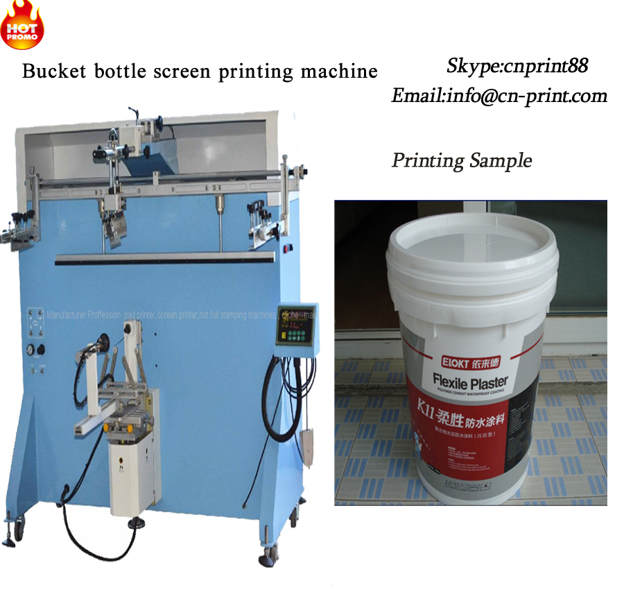 Large Container Screen Printing machine for barrels