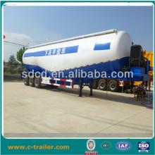 China shandong 3 axle 45m3 steel silo bulk cement trailer in Dubai