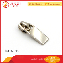 Personalizado tamanho pequeno luz dourada couro zipper puller