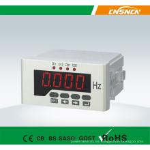 Medidor monofásico de la frecuencia del LED de 48 * 96m m Digitaces
