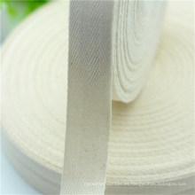 Cinta de espiga de algodón blanco