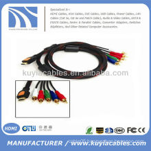HOT 5FT 1.5M HDMI to 5RCA 5 rca AV Cable