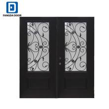 Фанда кованого железа стеклянная дверь вставка для стеклообоев дверь