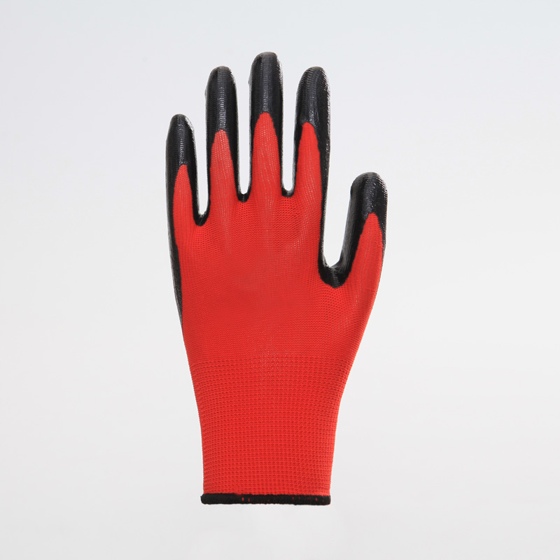 Thumb Coated Non-slip Nitrile Safety Gloves