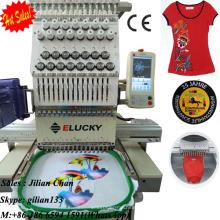 chapéu / boné / tubular / cilindro / t-shirt / flat bordado única cabeça computadorizada máquina de bordar com preços