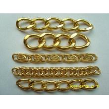 Fornecedor de china venda quente corrente de ouro brilhante de alto nível para bolsa de couro