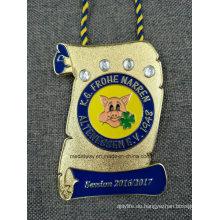 Hochwertige Medaille des Andenken-Metall-3D Emaille