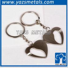 Nova prata de design ativa o chaveiro do coração