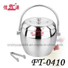 Stainless Steel Round Ice Bucket (FT-0410)
