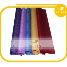 Poliéster africano del brocado de Guinea de la tela del damasco 10 yardas / precio de fábrica del bolso jacquard textiles