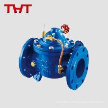 Válvula de retención del medidor de agua del diafragma de la brida hidráulica válvula de no retorno del actuador eléctrico / horizontal