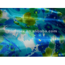 Polyester Printed Satin Fabric for Sleeping wear customize-made