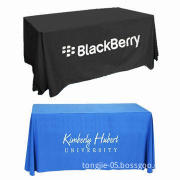 Table cloth with custom logo, heat sublimation digital printing, various sizes are available