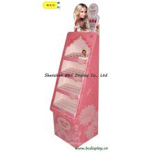 Créative de mode pour le présentoir de carton de plancher de rouge à lèvres de dame avec des GV (B & C-A002)
