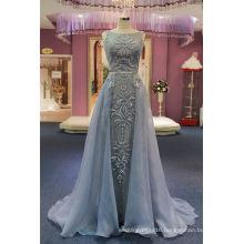 2017 Hot Sale Organza Blue Lace Evening Dress