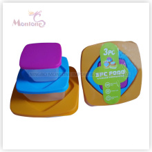 3pack Bento Lunch Box, Microwave Safe Plastic Storage Food Container