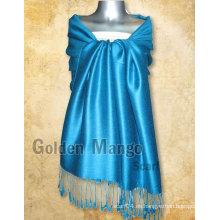 Bufandas pashmina de color sólido