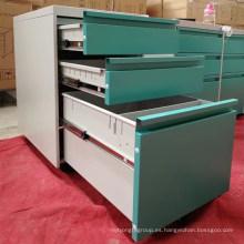 Colorido equipo de muebles de oficina para el gabinete de pedestal móvil de archivo A4