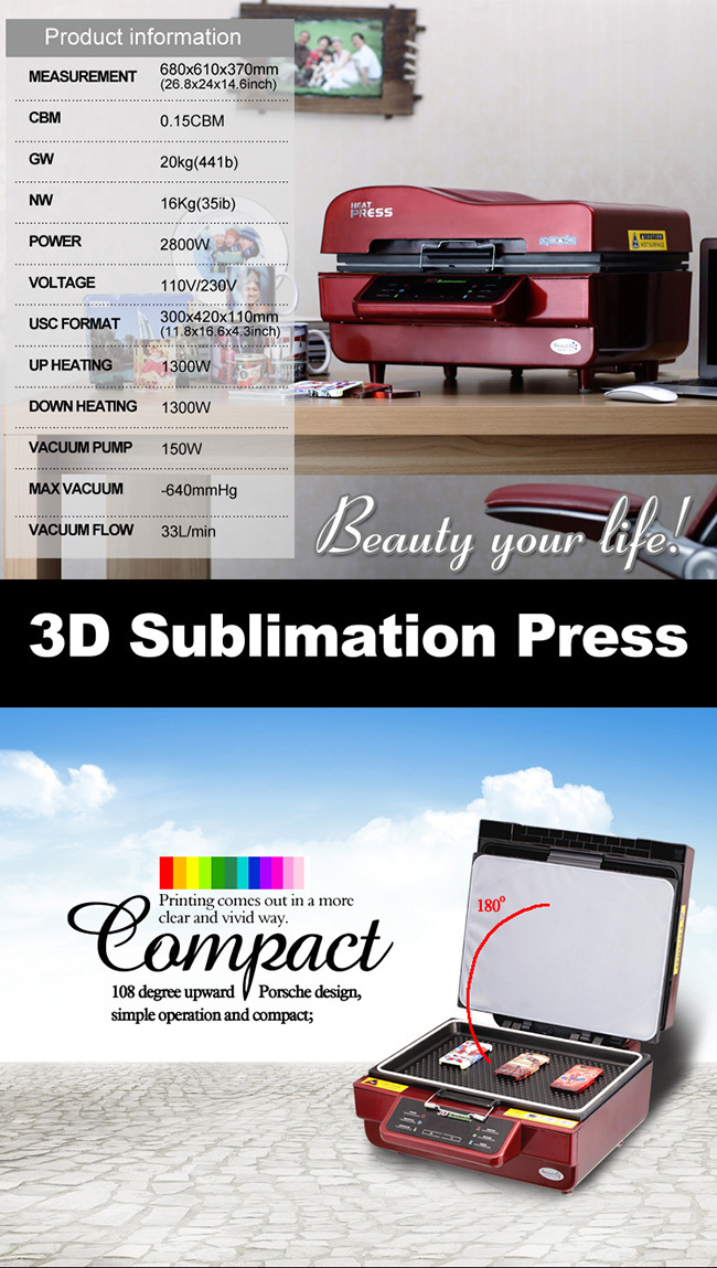 3D Sublimation Machine