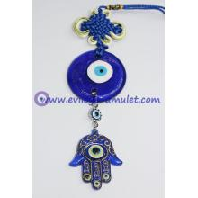 Chinese Knot Evil Eye Wall Hamsa Car / Wall Hanging Decoration