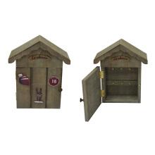 Boîte en bois antique pour porte-clés