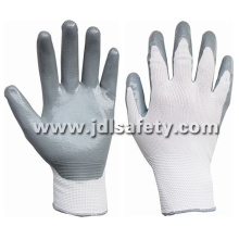 Nylon Knitted Work Glove with Sandy Nitrile Dipping (N1552)