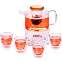 Juego de té de té de vidrio de primera calidad con filtro