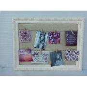 Linen Wooden Photo Frame