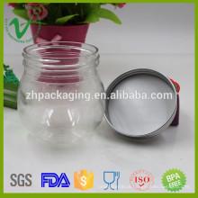 Recipientes de plástico redondos de pequeno porte PET transparentes para embalagem de doces
