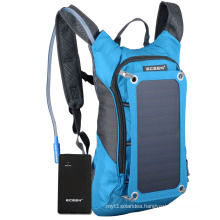 Best Hot Sale Red Color Ployester Sunpower Solar Panel Solar Energy Backpack Solar Charger Riding Bag