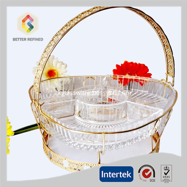 glass plate with handle