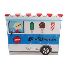 Boîte de rangement bleue pour voiture de crème glacée