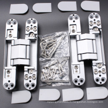 Quincaillerie architecturale moderne Charnière 3D d'alliage de zinc ajustant pour la porte en bois
