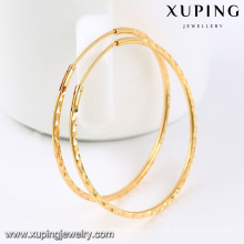 92435-Xuping Beautiful Ladies 18k grandes boucles d'oreilles rondes